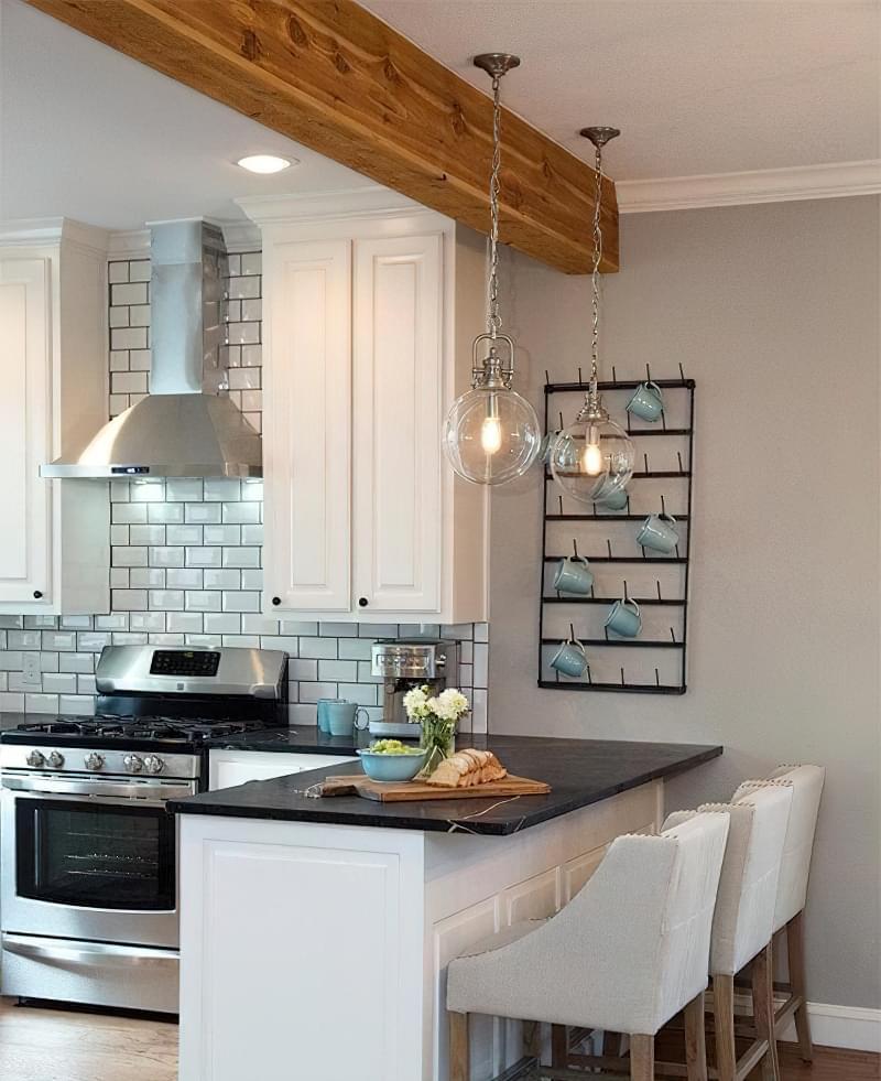 Кухня з півостровом: приклади, плюси і мінуси 8
