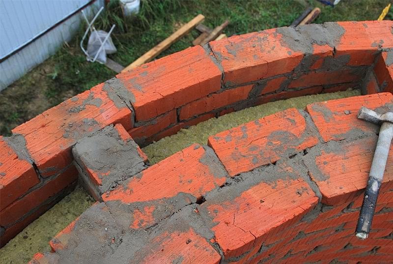 Колодязна кладка цегляних стін 6