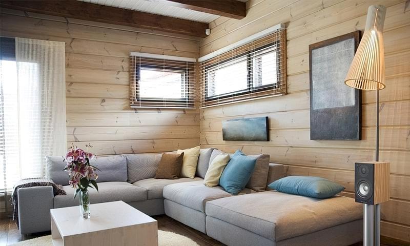 Варіанти обробки стін деревиною 3