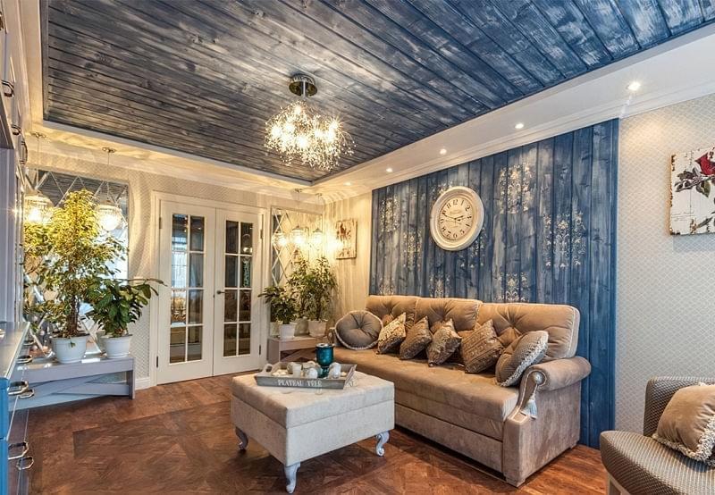 Варіанти обробки стін деревиною 4