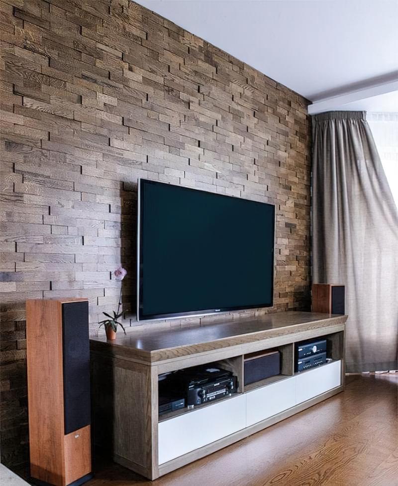 Варіанти обробки стін деревиною 8
