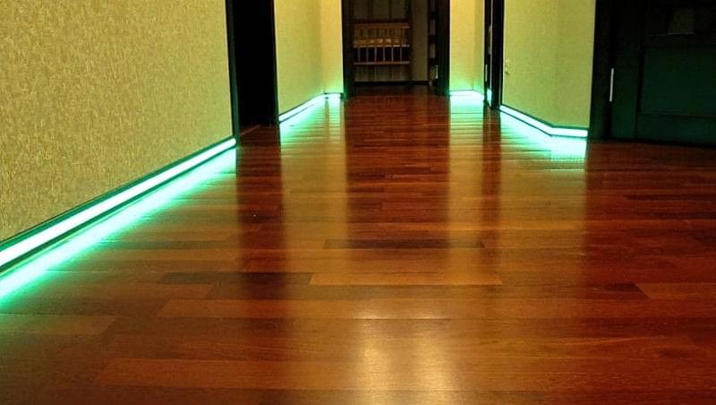 Підсвічування підлоги, цікаві варіанти 1