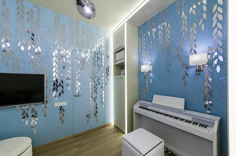 Дзеркальні шпалери: чудовий декор житлового приміщення 5